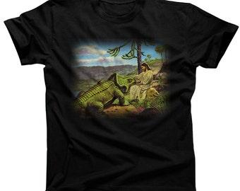 Jesus Lays an Egg T-Shirt - Funny Dinosaur TShirt - Mens and Ladies Sizes Small-3X