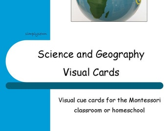 Montessori Visual Schedule Cards - Science and Geography