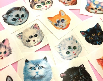3 Eyed Kitty Stickers Set SiDeShOw