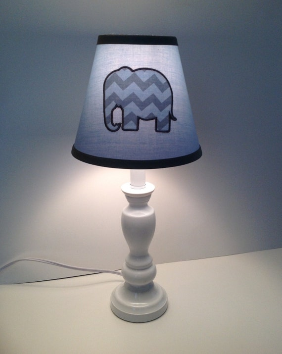 elephant nursery children 39 s lamp shade. Black Bedroom Furniture Sets. Home Design Ideas