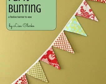 Reversible Party Bunting Sewing Pattern and Tutorial