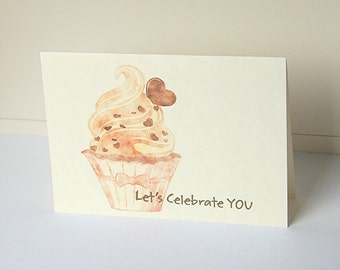 Cupcake Note Cards, Blank Note Card Set, Birthday Note Cards, Celebration Cards, Greeting Cards, All Occasion Cards, Congratulations Card