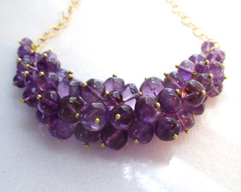Painfully Chic AAA Amethyst Polished Bauble Necklace...