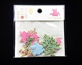 Origami Crane Stickers - Traditional Japanese Stickers - Crane Stickers - Chiyogami Stickers - Washi Paper Stickers S202