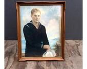 1940s Sailor - Vintage Hand Painted Photograph