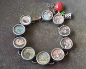 SNOW WHITE - Upcycled Altered Antique Typewriter Key Bracelet