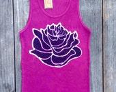 Lotus tops & tees ribbed tank top/ Women Yoga/ Eco Yoga/ Eco-friendly wear/ Tops and Tees