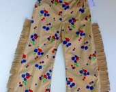 Cowgirl Pants made from Vintage Fabric - Size 3