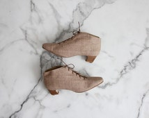 linen boots / ankle boots 9.5 / ankle boots 10