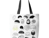 20 Hedgehogs Tote Bag, Printed in USA