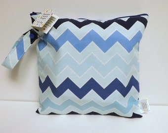 Small Wet Bag - Wet Bag - 11 X 11 - The Chevron Blues