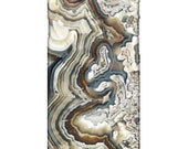 iPhone 6 / Cell Phone Case - Chic Lace Agate Mineral Photograph - Blue Agate
