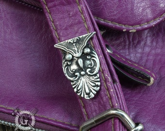 Spoon Owl Pin - Tie Tack -  Inspired by Antique Victorian Silverware - Bird Brooch - Handmade Pewter Creations by Doctorgus - Lapel Pin