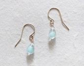 colette - glass teardrop earrings by elephantine