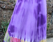 Purple tie dye skirt India medium cotton festival hippie
