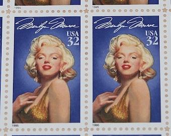 MARILYN MONROE .. Vintage Mint Postage Stamps .. Legends of Hollywood Series .. Sheet of 20 stamps