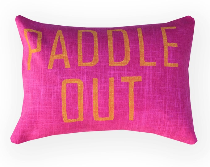 Paddle Out Pillow