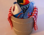 Miniature Dollhouse Cleaning Bucket OOAK