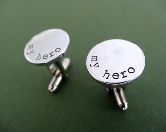 My Hero Cufflinks - Personalized Cufflinks