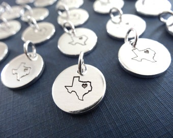 Texas Charm - Personalized Small State Charm