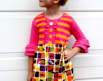 Trick or Treat dress. SALE Pink Momi boutique