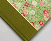 Unique Guest Book or Journal - Green Daisy, Great for Wedding Guest Book, Writing Journal. Sign in Book