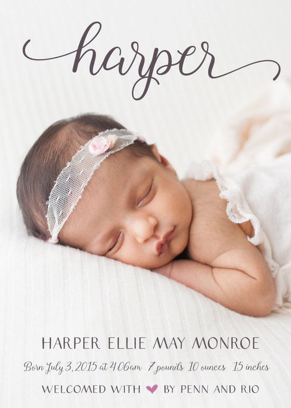 online baby announcement templates - girl birth announcement photo baby announcement baby girl