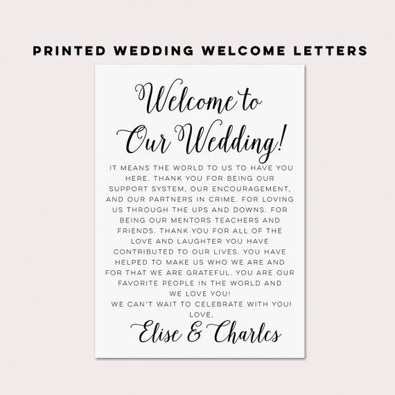 Wedding Welcome LettersWedding ItinerariesWedding By