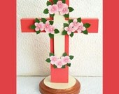 Corral Sunset Floral Table Cross