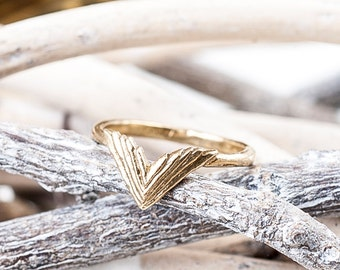 Bronze Take Flight Ring | Double Wing Ring | Nature Inspired | Bronze Statement Ring