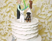 Light saber cake topper bride and groom personalized
