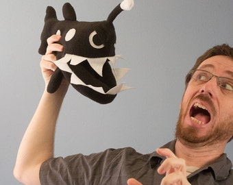 Small Angler Fish Plush - Black