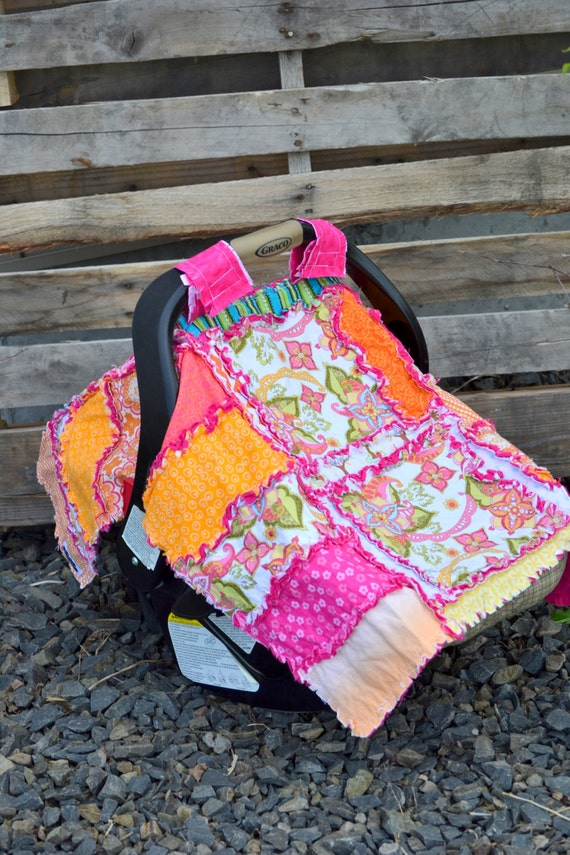 Car Seat Cover PATTERN, Rag Quilt, Nursing cover, baby blanket, Addy Mae, INSTANT DOWNLOAD - Car Seat Canopy Pattern - Car Seat Pattern