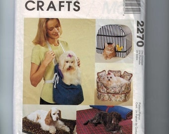 Craft Sewing Pattern McCalls 2270 Pet Accessories Cat Dog Bed Cover Carrier UNCUT