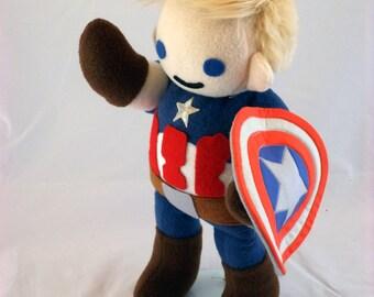 Cuddly Plush Patriotic Captain (Unmasked)