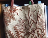 Autumn Botanical Tapestry Handbag Tote