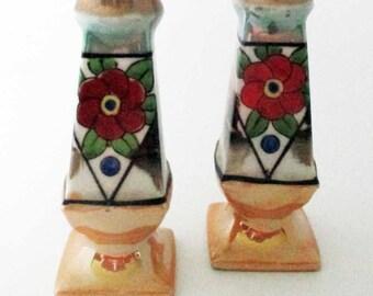 Vintage Lusterware Japan Salt and Pepper Shakers