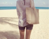 Beach Bags,Taupe Tote Bag, Tote Bag, Linen Handbag,Casual Tote, Purse for Women, Linen and Leather Bag, Bag, Market Tote, Resort Tote, Beach