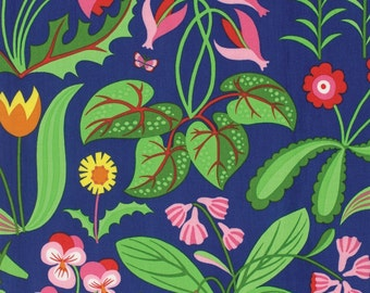 Jane Sassaman Millefleurs Red Flowers fabric 1 yard