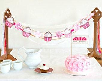 Cupcake Birthday Garland