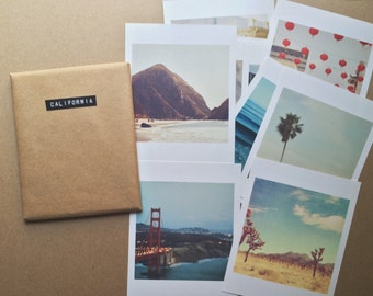 California photography, mini print set, LA San Francisco Joshua Tree San Diego photos, beach, CA gift set, Myan Soffia