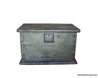 1780s Chinese Trunk | Antique Wood & Iron Historic Asian Storage Chest