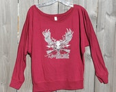 Maroon Relaxed Fit Rockstarlette Bowhunting Logo Top