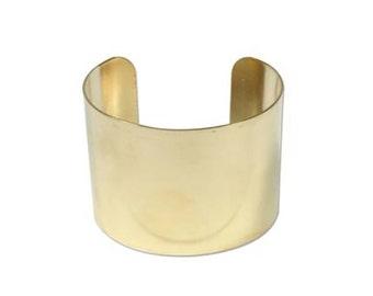 Brass Cuff Bracelet for Beading, Stamping, Embellishing, 43382 , 2 inch Flat Cuff Bracelet, Cuff Blank, Beading Cuff Base, Beadwork Bangle