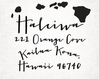 Hawaii Personalized Return Address State Stamp
