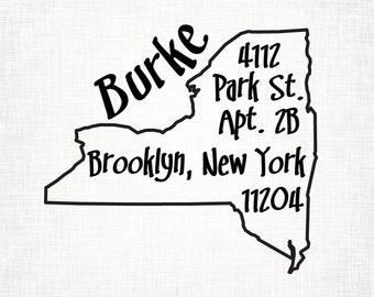 New York Personalized Return Address State Stamp