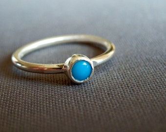 Sleeping Beauty turquoise ring / custom turquoise ring / turquoise ring / turquoise jewelry / December birthstone / silver stacking ring