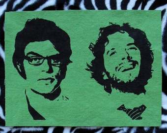 FOTC Patch Flight of the Conchords Patch Band Patch Music Patch Bret McKenzie and Jemaine Clement Folk Patch Flight of the Conchords Fabric