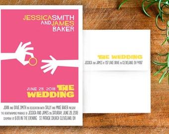 Movie Poster Wedding Invitation Suite