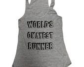 Worlds Okayest Runner Tank Top - Running - Sleeveless Shirt - (Ladies Sizes S, M, L,)